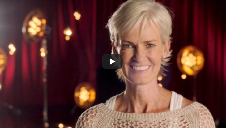 Judy Murray's all smiles on Strictly Come Dancing